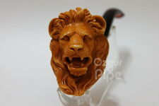 WILD LION HEAD MEERSCHAUM SMOKING TOBACCO PIPE COLLECTIBLE ARTWORK BY KENAN