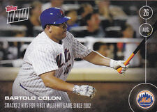 2016 Topps NOW 396 Bartolo Colon Mets Multi Hit Game Aug 26 ONLY 392 Printed SP