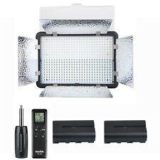 Godox 500 LED Studio Camera Video Light 3300-5600K + Two 2200mAh Batteries Kit