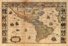 Old World Map Photo # 2 Art Print POSTER lithograph Poster Print, 19x13