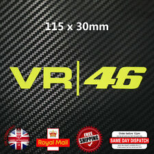 Valentino Rossi 46 VR Moto GP Decal Sticker Fluorescent Yellow Vinyl 115mm F176