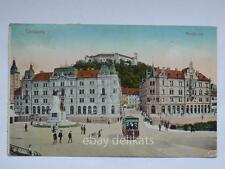 LJUBLJANA LUBIANA Tram tramway vecchia cartolina