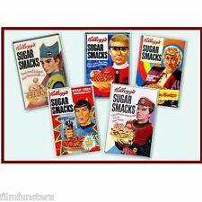 NOSTALGIA -THUNDERBIRDS /SCARLET SUGAR SMACKS- 5 X JUMBO FRIDGE MAGNETS - SET