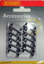 Hornby R8098 12.6mm METAL 8 spoked WHEEL AXLE SET  x10    00 Gauge
