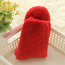 thicken women solid winter warm Coral Fleece Fluffy candy color socks Hosiery