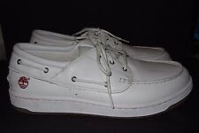 TIMBERLAND Men's White Leather Loafer Shoes Size 13M