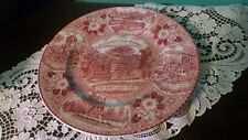 VTG Plate Collector Lincoln's New Salem Illinois Stafforshire Ware England Red