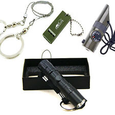 Survival Kit Whistle+Wire Saw+7in1 Whistle+Mini Flashlight Field Camping Outdoor