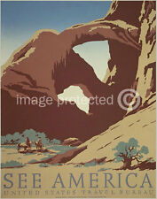 Arches national Park See America US Travel Bureau WPA Vintage 11x17 Poster