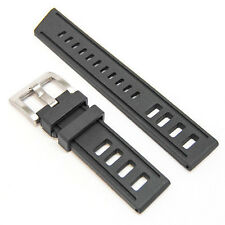 LUX Black Rubber Diving watch band w/ steel buckle strap  Omega Isofrane 22mm