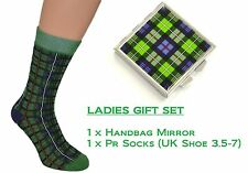 Ladies Tartan Socks & Handbag Mirror Inspired by Scotlands MacKenzie design
