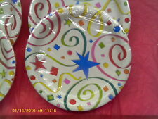 Party Streamers paper plates, wholesale lots of 12