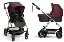 Mamas & Papas Sola 2 Stroller and Bassinet Mulberry Brand New Free Shipping!!