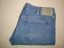 POLO RALPH LAUREN MEN'S CLASSIC STRAIGHT ZIP FLY BLUE JEANS SIZE 38X30 ( 40X31 )