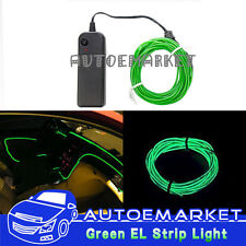 3M Green Interior Light Cold Car LED EL Neon Decor Lamp Atmosphere Glow Strip