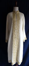 NWT Anna Sova Luxury Orangic Linen Kashmiri Jacket Kashida Embroidery Long Coat