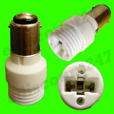 HIGH QUALITY SBC B15 to G9 Lamp Holder Adaptor Socket LED Converter UK SELLER.