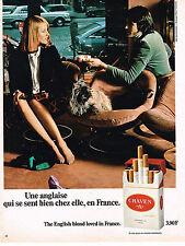 PUBLICITE  1973   CRAVEN A   cigarettes
