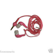 Pink in the ear Headphones for to fit the 3.5mm Jack Nintendo Ds lite DSi 3DS XL
