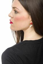 Earrings Women Ear Stud Fashion Spring Kiss And Pearl Stud Lip Stylish Design