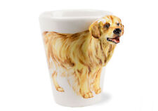 Blue Witch 3D -Golden Retriever Ceramic Hand Crafted Coffee Mug