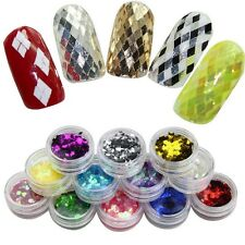 12Pcs Acrylic Powder Cave Nail Shells Powder For 3D UV Sculpture Gel Art Decor