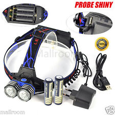 11000LM LED 2X XML T6 Headlamp Stirnlamp Taschenlampen Torch+AC Lade+2x 18650