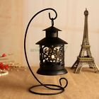 Retro Metal Cage Black Candle Holder Home Hanging Lights Lantern Table Lights