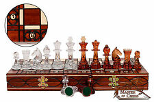 AMBER Decorative Chess Set 41cm / 16.2 in Stuning Chessboard and Unique Pieces!