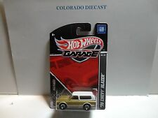 Hot Wheels Garage Gold/White '70 Chevy Blazer