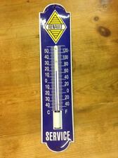 Thermometer emaille, enamel, porcelain ware, Renault Service
