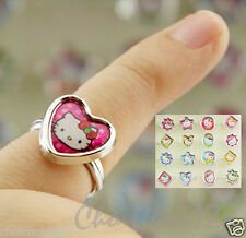 Wholesale Lots - 72pcs x Hello Kitty Fancy Ring Box Set for Kids Party HJ06