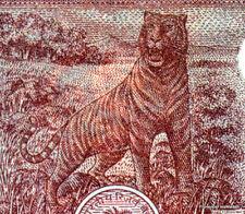 INDE billet neuf de 2 RUPPEES Pick53Ac  le TIGRE du BENGALE