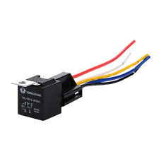 12V 40/30A 5Pin SPDT Changeover Car Relay & Socket w/ 5 Wires Waterproof Switch