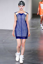 JUNYA WATANABE Comme des Garcons layered sporty mesh SS13 runway dress M NEW