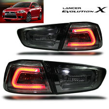 LED TAIL LIGHT SMOKE BLACK LAMP Mitsubishi Evolution 10 EVO X LANCER EX 2008-16