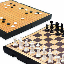 MYUNGIN Magnetic Both Sides Go Board Chess Game WeiQi Baduk Piece Portable