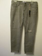 Paige Designer Jeans Boyfriend Canyon Gray Wash Distressed Stretch Jeans 28 NWT