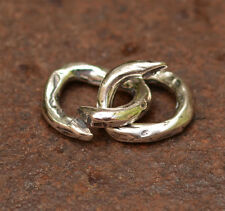 Large Artisan Jump Ring in Sterling Silver