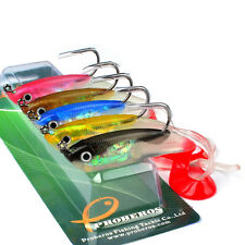 5X Soft Silicone Lures Fishing Lure Bass Plastic Bait Tackle JIG Hooks 10cm/14g