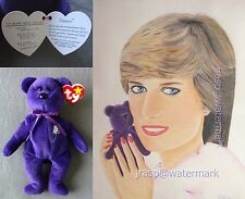 Princess Diana Colored Pencils Art Portrait Drawing Ty Beanie Babies 1st Edition