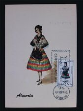 SPAIN MK 1967 COSTUMES ALMERIA TRACHTEN MAXIMUMKARTE MAXIMUM CARD MC CM c6016