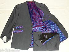 "MEN'S SKOPES CONTEMPORARY GREY TONIC DESIGNER SUIT UK 46L W36"" XL35"""