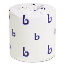 Boardwalk Two-Ply Toilet Tissue White 4 1/2 x 4 1/2 Sheet 500 Sheets/Roll 96