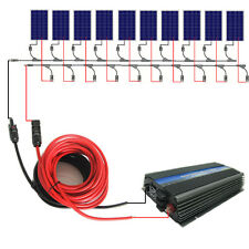 1000W 12V grid tie system:10*100W solar panel + 1KW inverter + Y MC4 Connectors