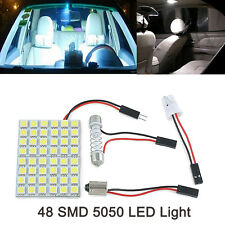 1pc Car Warm White 48 SMD 5050 LED Light Lamp Panel T10 Festoon Dome BA9S