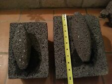 Metate y Mano Authentic Mexican Volcanic Rock Mortar and Ground Stone Chef 10x8