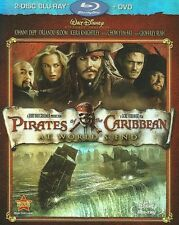 PIRATES OF THE CARIBBEAN NEW BLU RAY + DVD 3-DISC SET AT WORLDS END JOHNNY DEPP