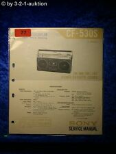 Sony Service Manual CF 530S Cassette Recorder (#0077)