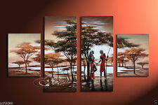 MODERN ABSTRACT CANVAS ART WALL DECOR OIL PAINTING - African Woman